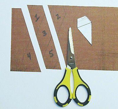 Cut cardstock with scissors