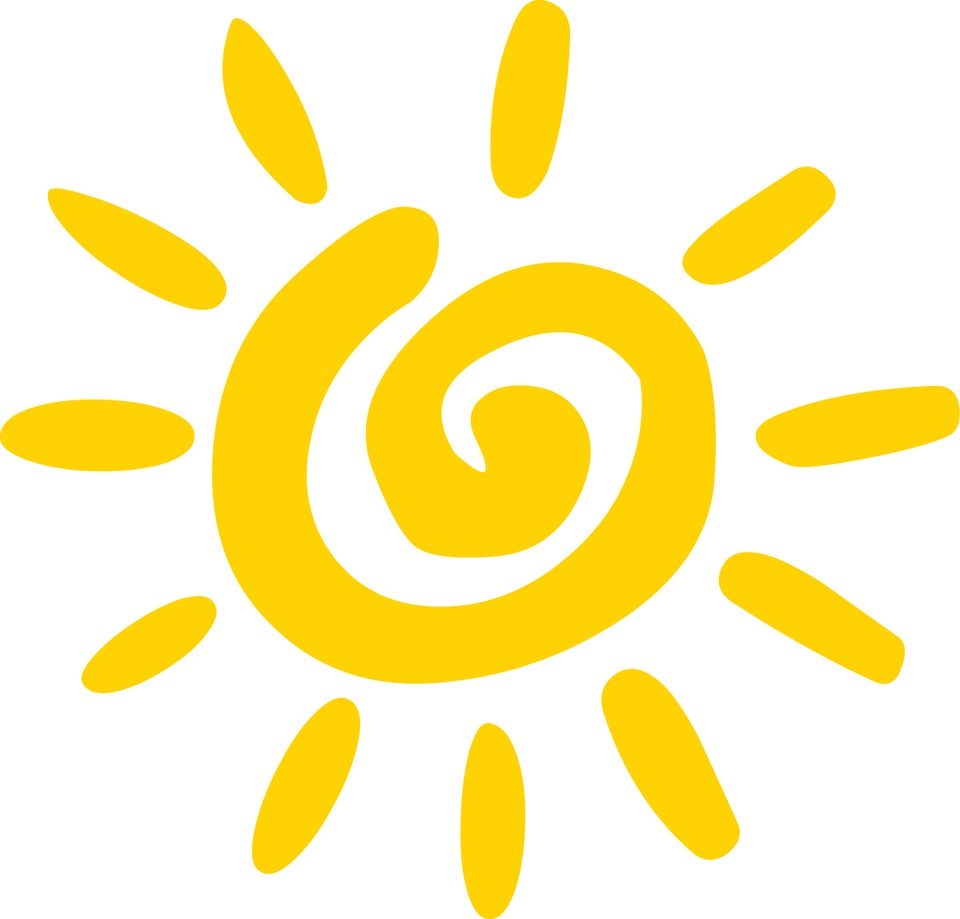 A yellow sun illustration
