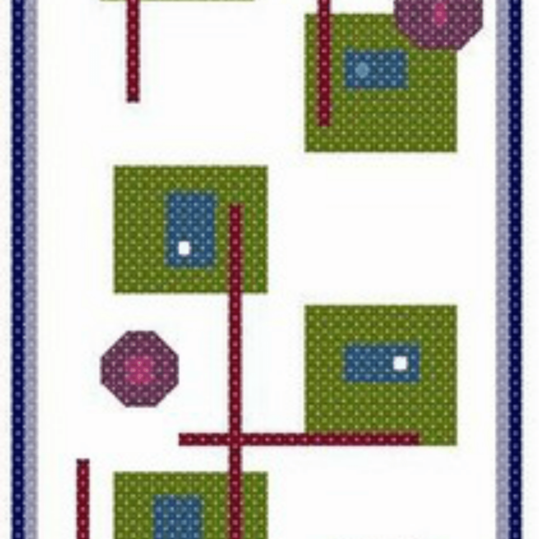 Geometric art bookmark