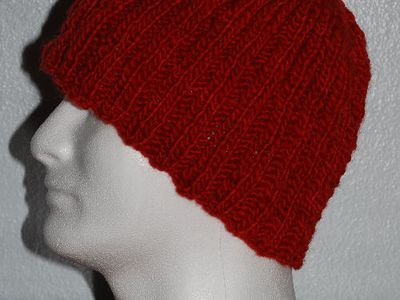 Free Knitting Pattern For A Ribbed Hat Knit Flat