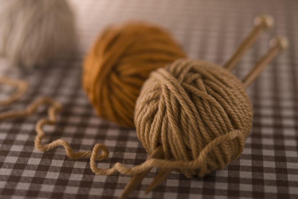 Brown yarn