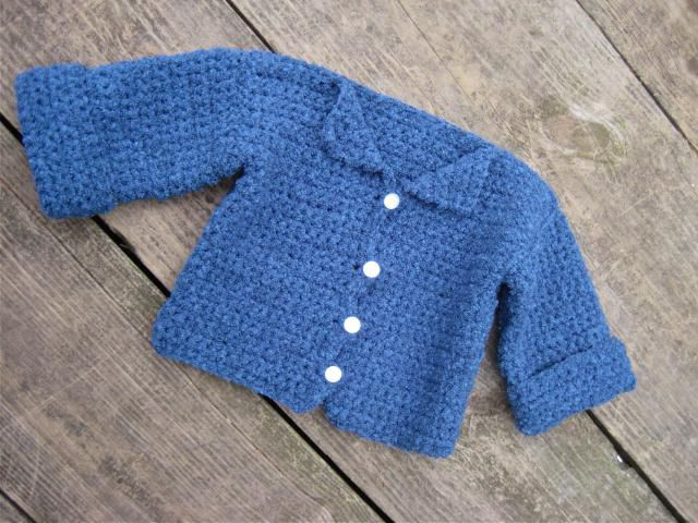 Easy Beginner's Baby Cardigan Free Crochet Pattern