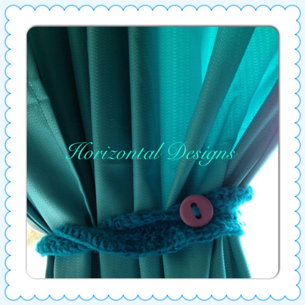 Simple Ruffled Crochet Curtain Tie Free Pattern