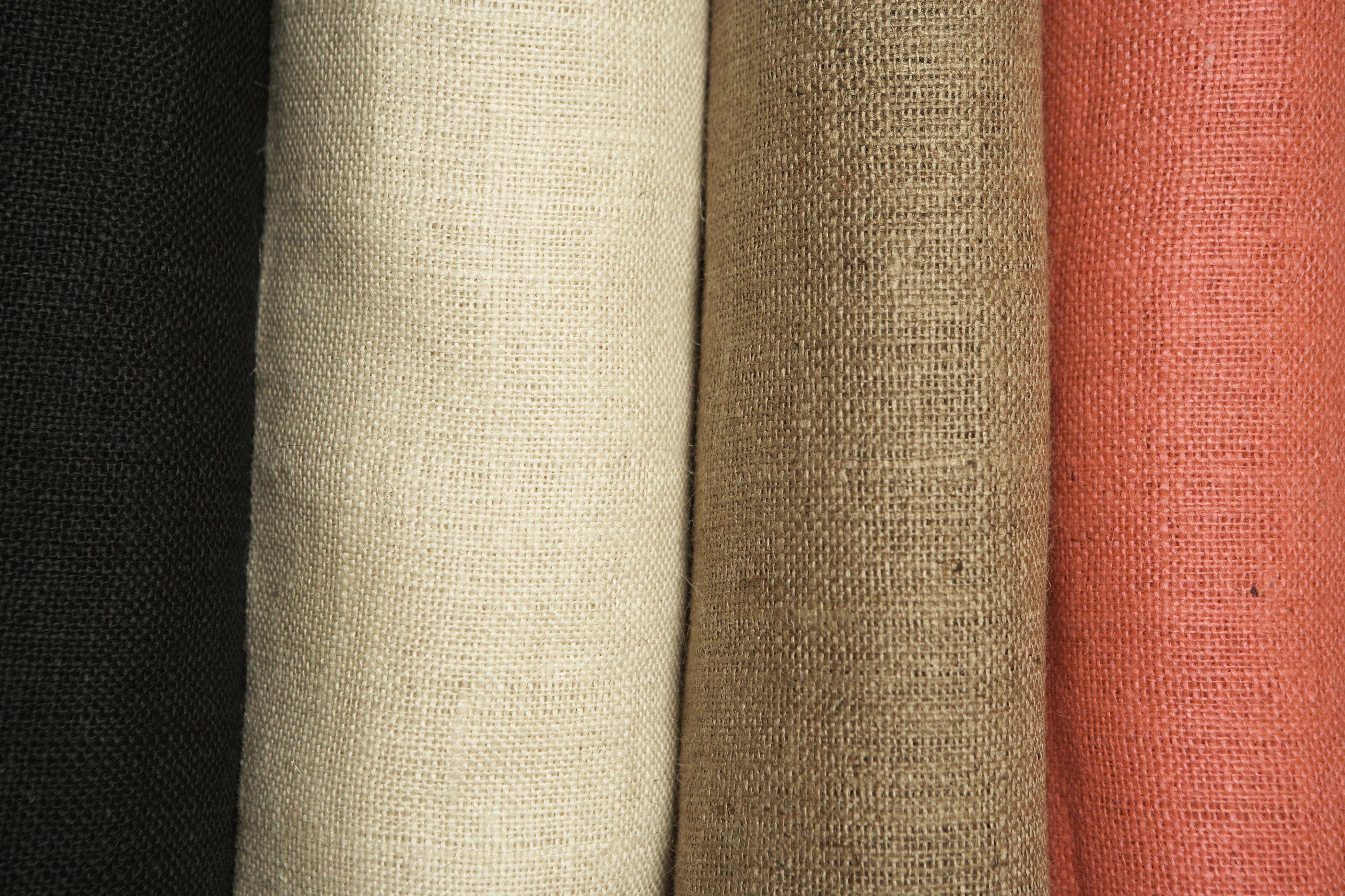 Rolls of linen, close-up