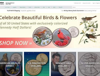 Littleton Coin Company's Website Homepage