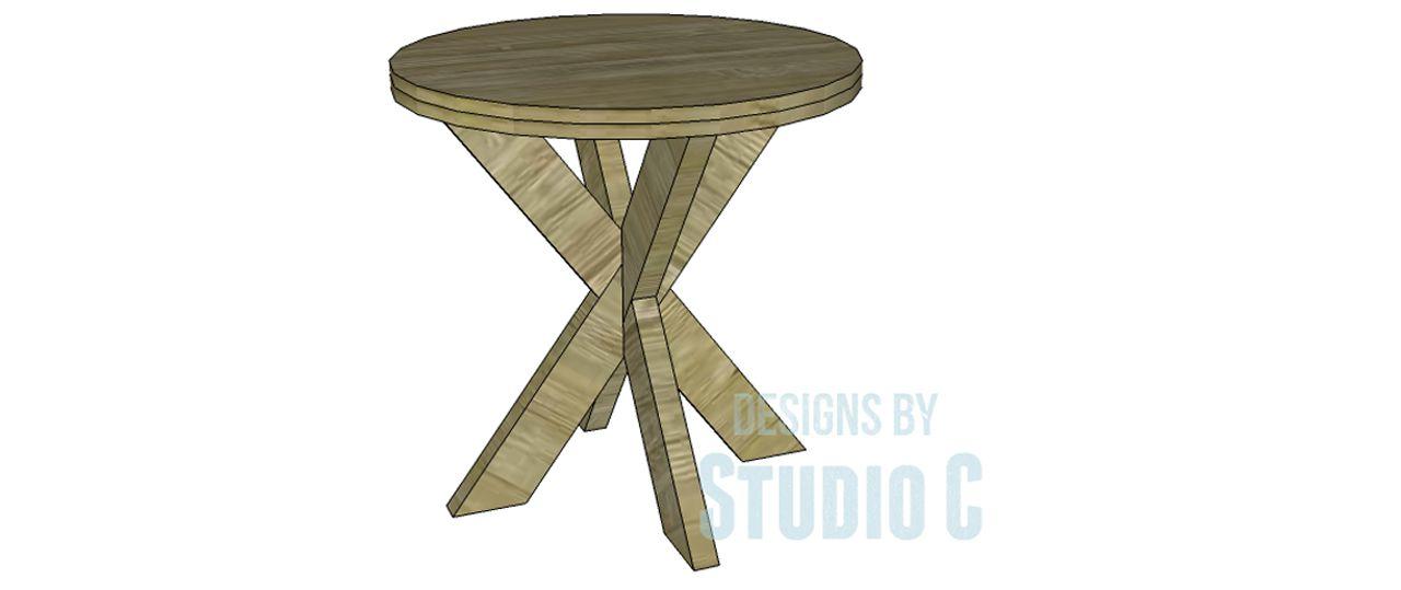 DIY Star-base Side Table