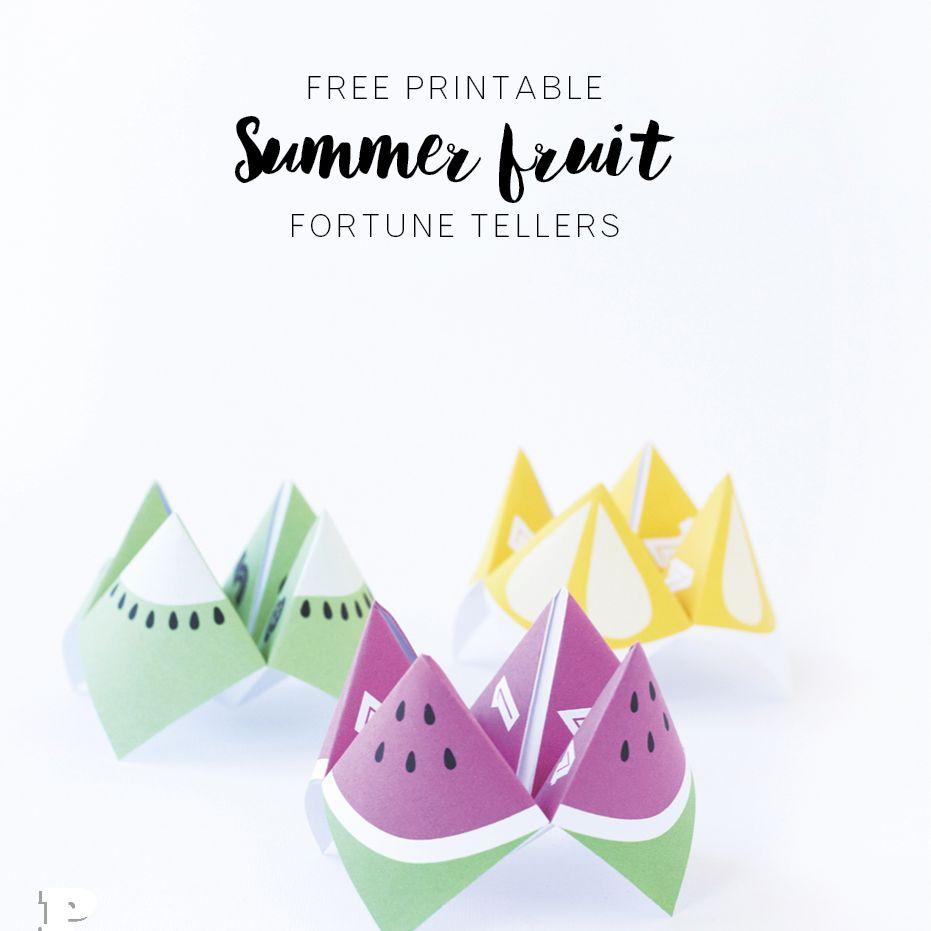 Summer fruit fortune tellers