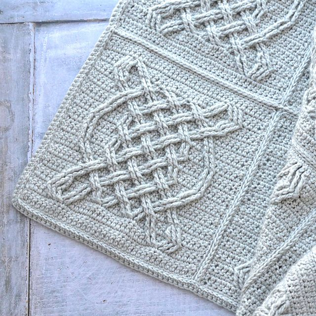 Celtic Tiles Overlay Crochet Blanket Free Pattern