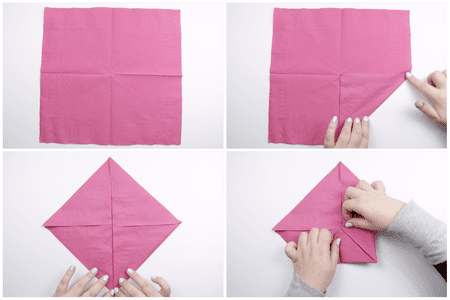 How to make an origami napkin lotus origami lotus napkin folding 01 mightylinksfo