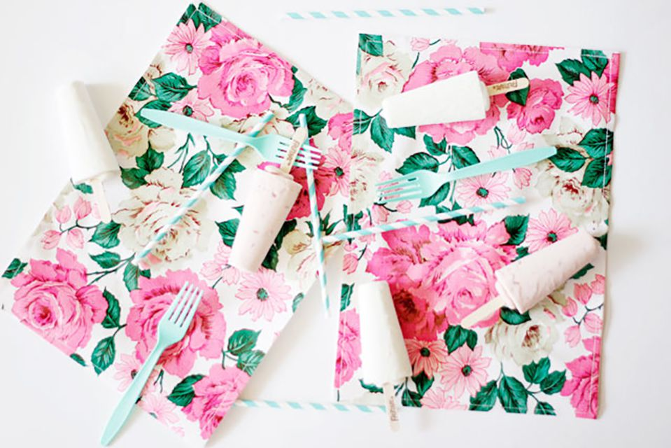 how to make oil cloth placemats