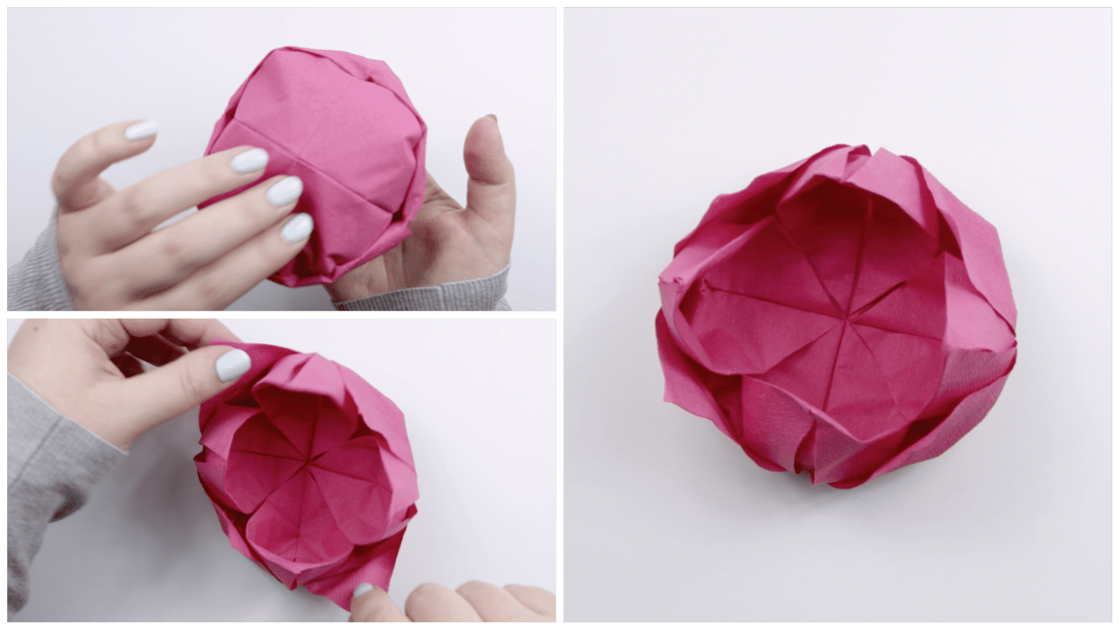 Refining the shape of the origami lotus
