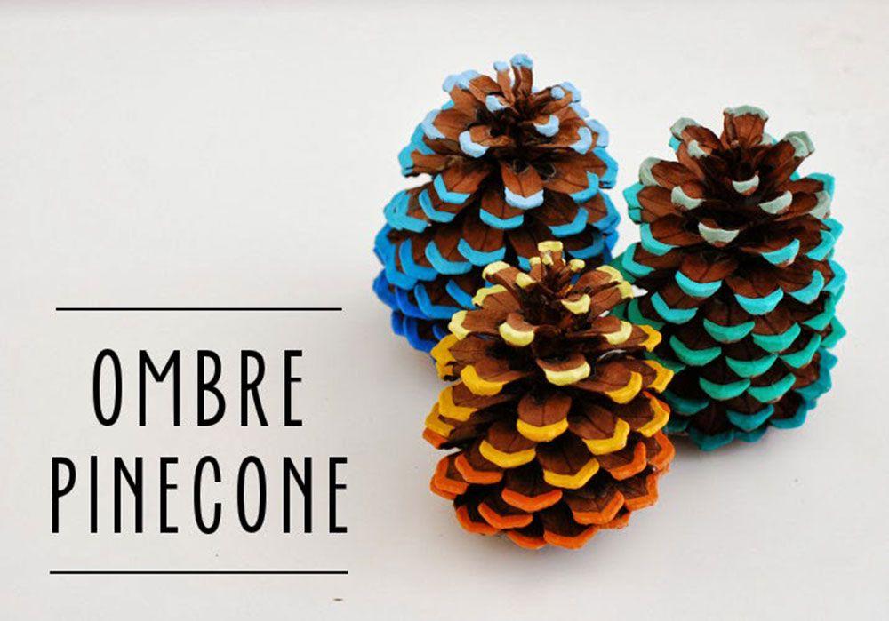Ombre Pine Cone