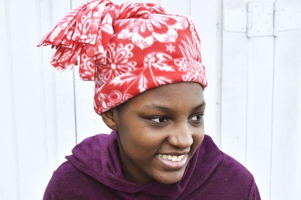Easy Fleece Hat With Tassel Top