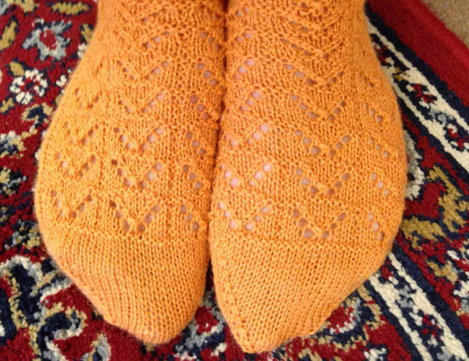 Pumpkin Pie Sock Pattern