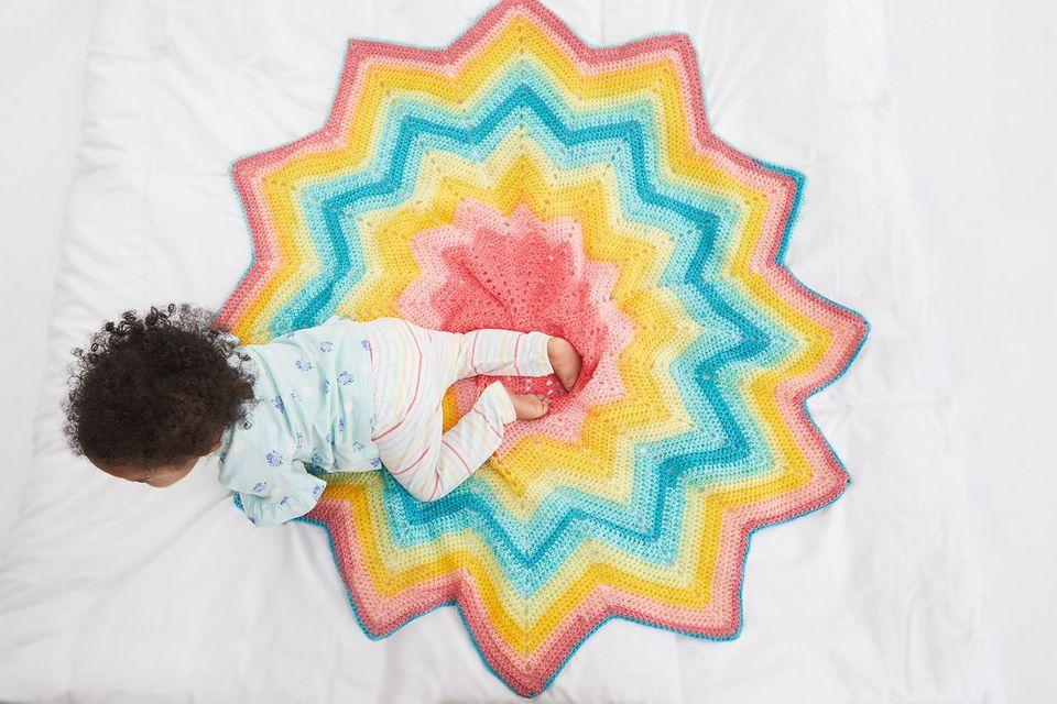 Starburst Blankie Crochet Pattern