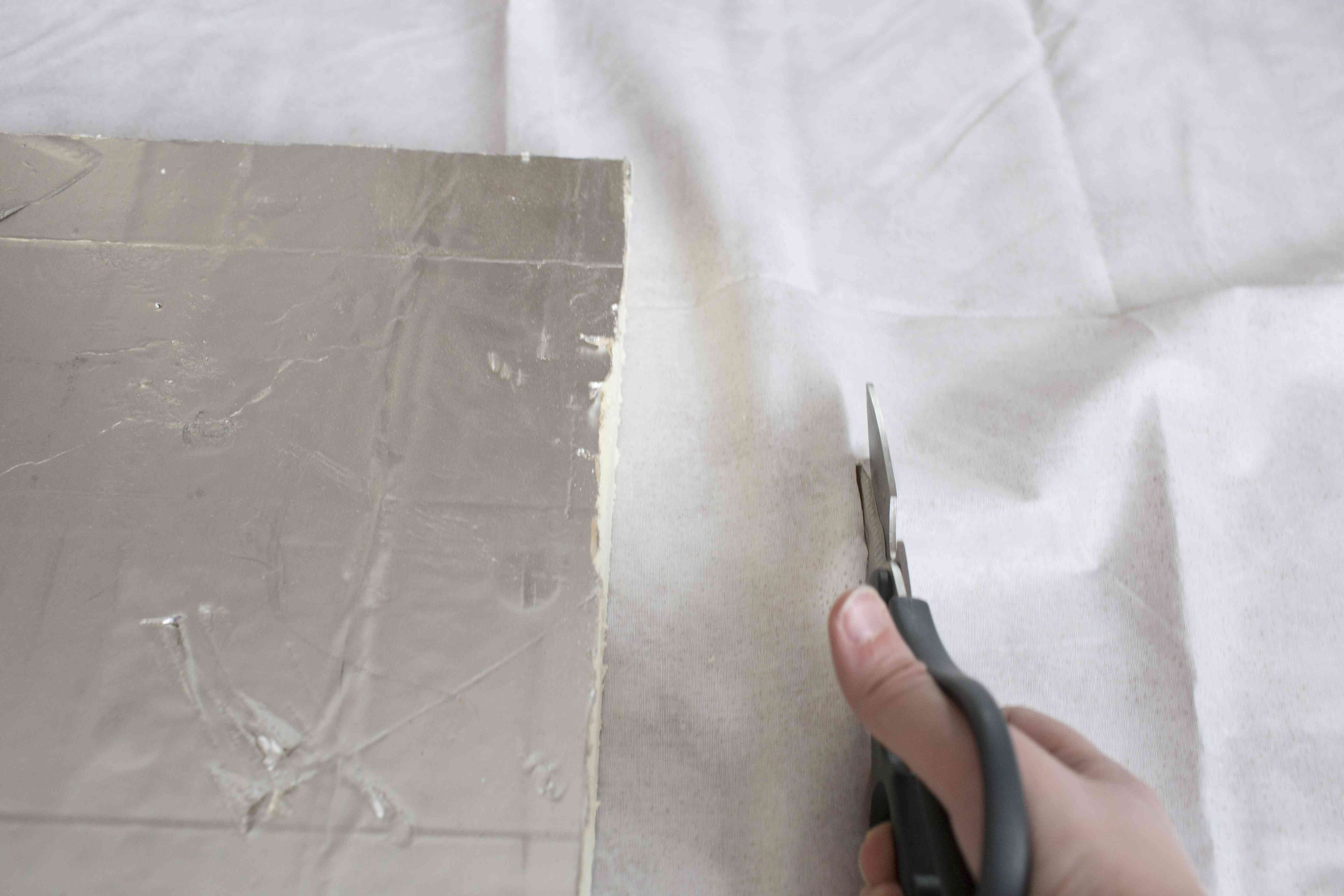 Hand cutting fabric