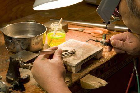 Jewelry maker at work