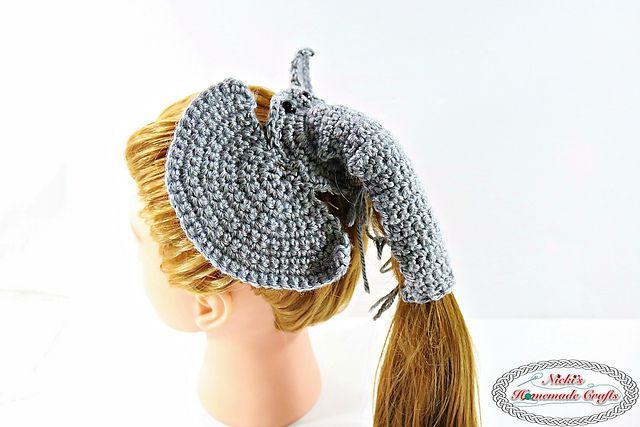 Elephant Pony Tail Holder Crochet Pattern