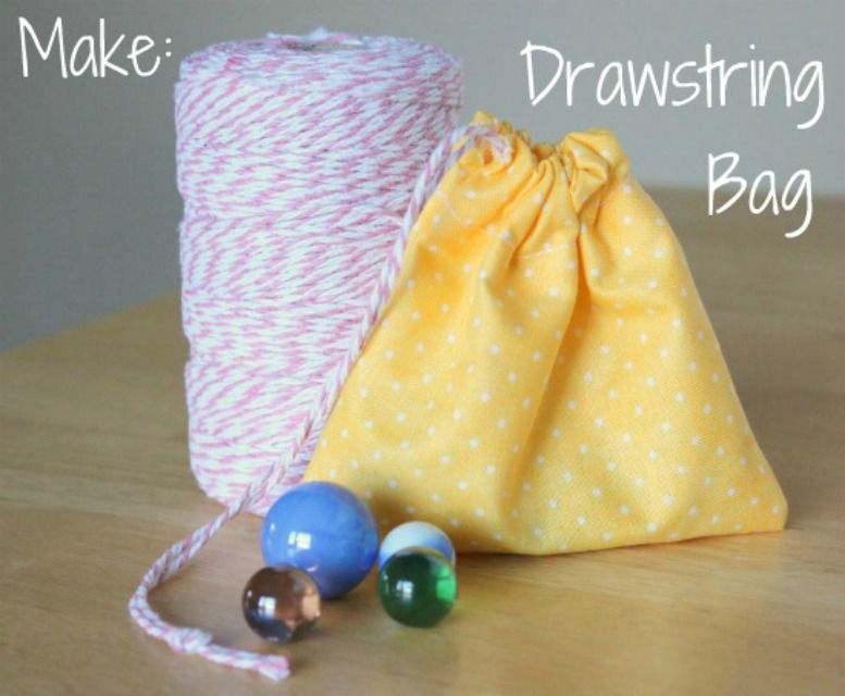 Simple Sewing Drawstring Bag