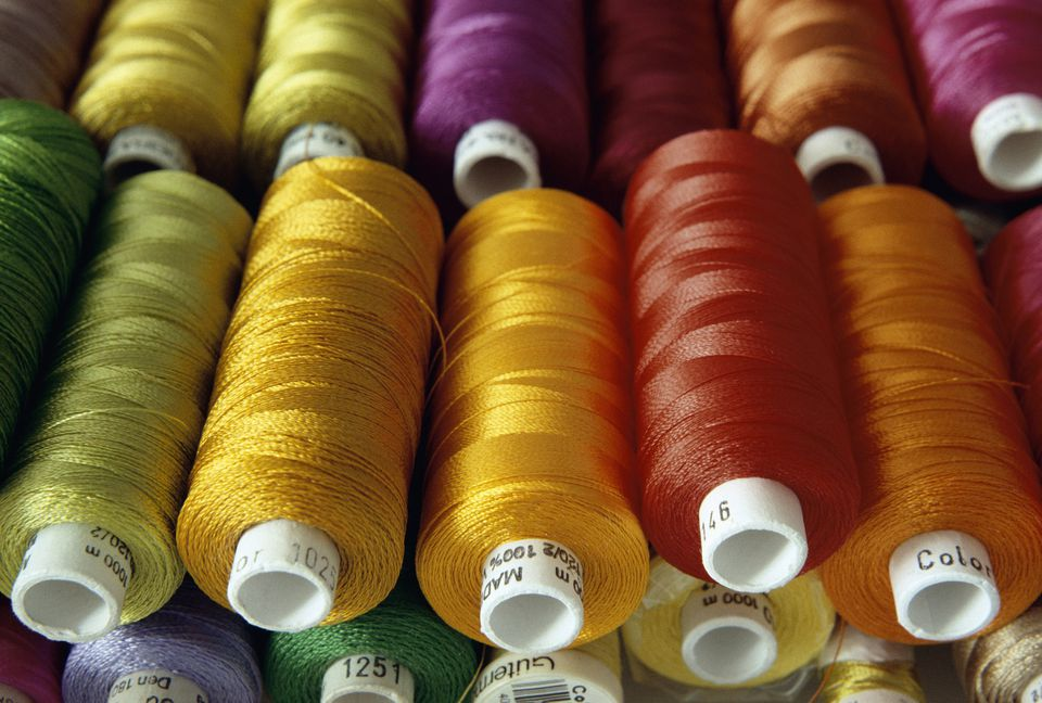 Spools of Colorful Cotton Embroidery Floss