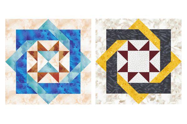 Labyrinth Quilt Block Pattern