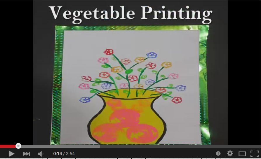 Kids Crafts Video Tutorials: Stamping Fun With Vegetables on meat printing, 4d printing, 3d printers printing, 3d home printing, pumpkin printing, full color printing, tampon printing,