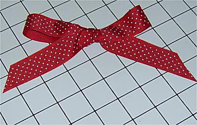 Finished ribbon bow
