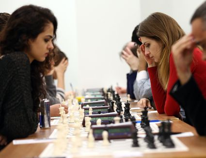 World Champion Plays At The London Chess Classic Competition