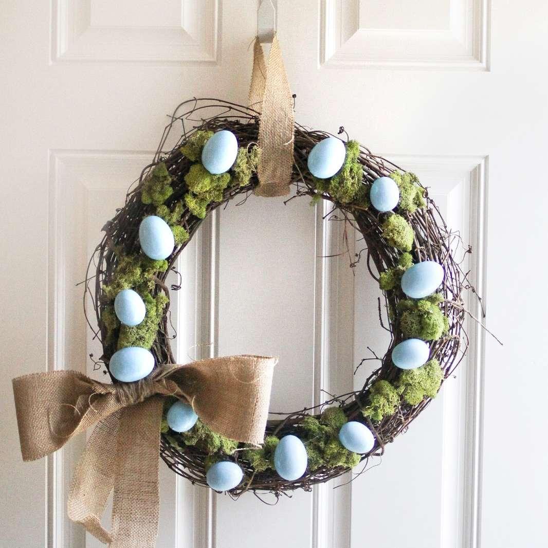 DIY Rustic Easter Egg Wreath