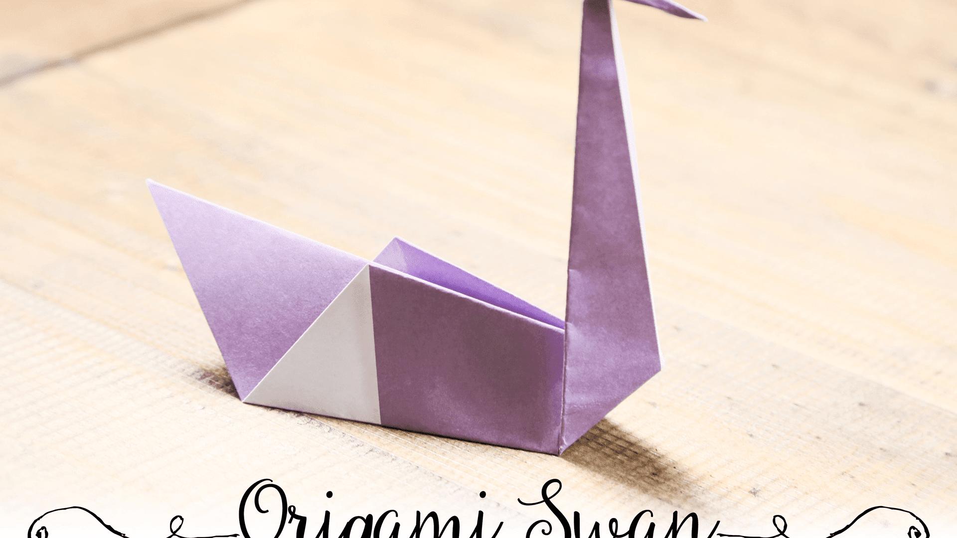 3D Origami Swan | 1080x1920