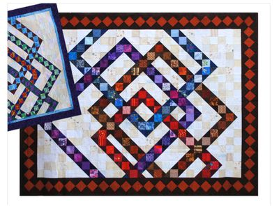 learn how to make a contemporary interwoven squares quilt