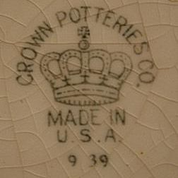 Crown Potteries Co. - Evansville, Indiana Crown Potteries Co. Made in U.S.A. - Ca. 1950