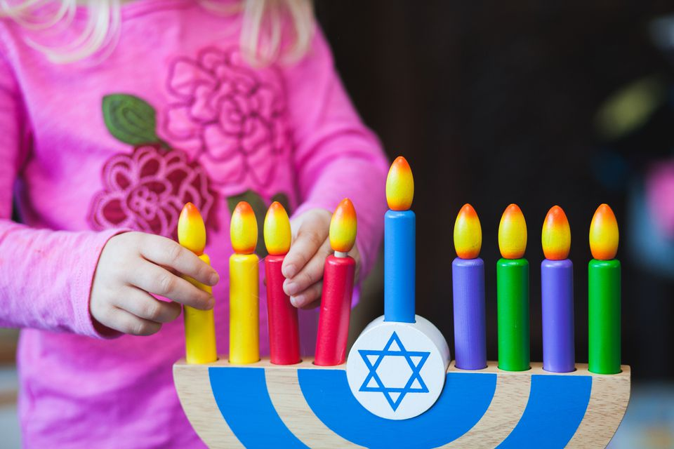 kid menorah for hanukkah