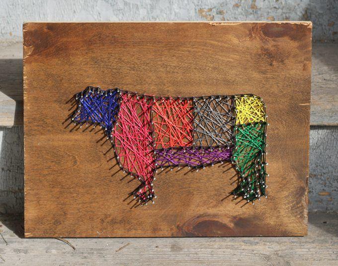 DIY Cow Art