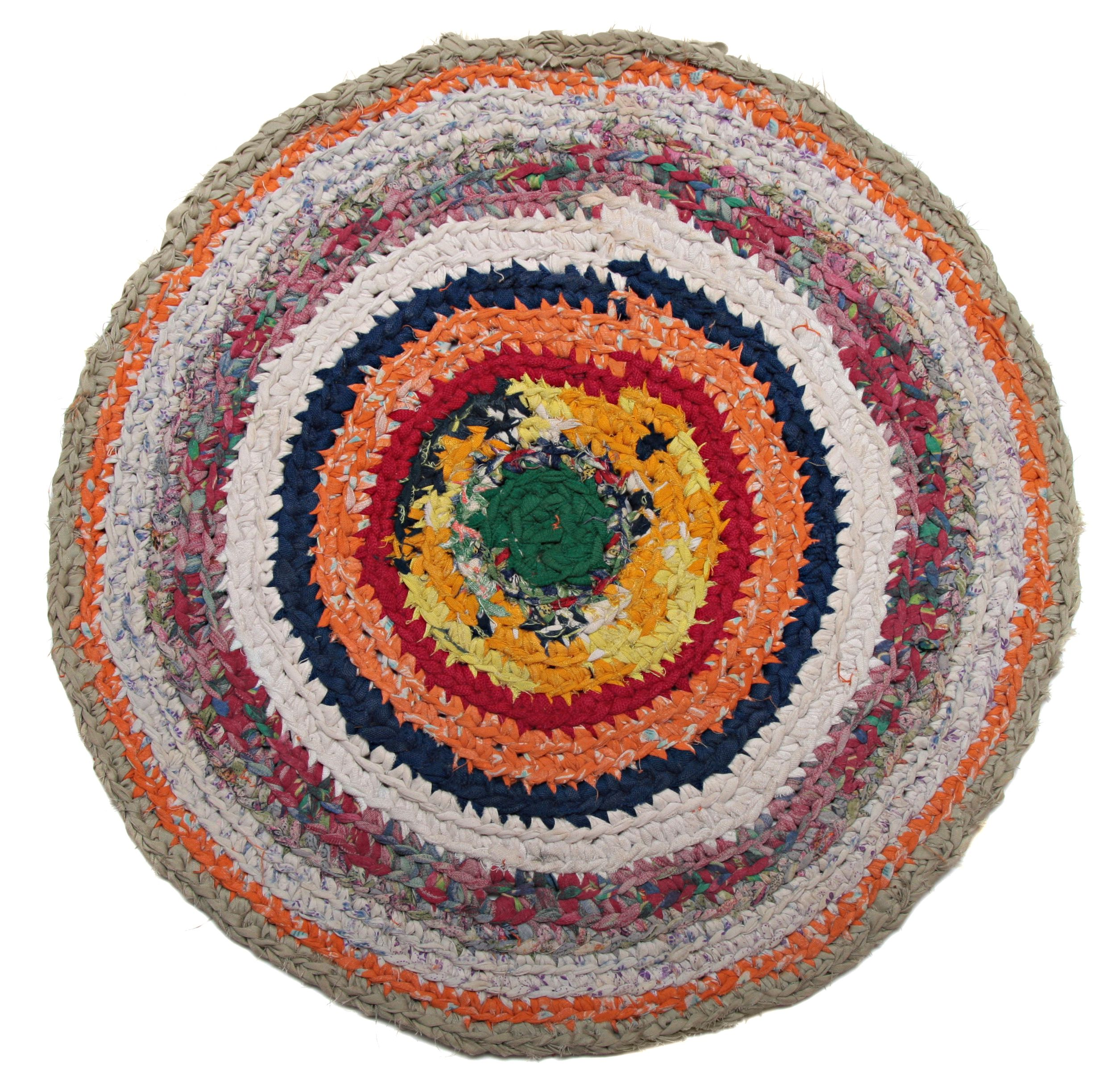 Free Colorful Crochet Rag Rug Pattern