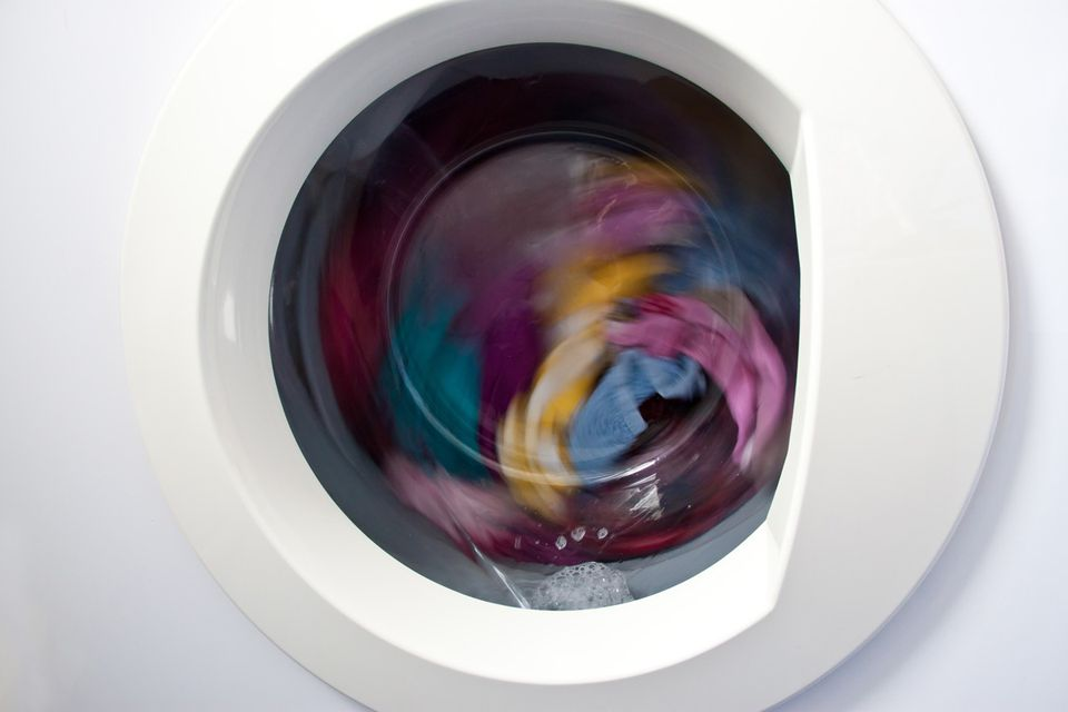 Clothes in washer