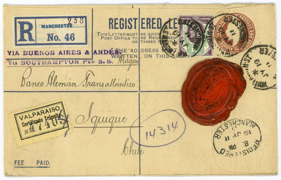Antique envelope from 1911 Great Britain