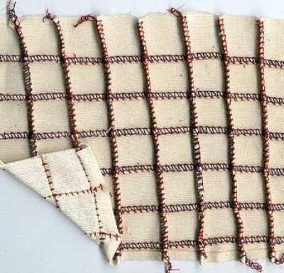 Two Thread Pin Tuck Sewn Horizontally & Vertically