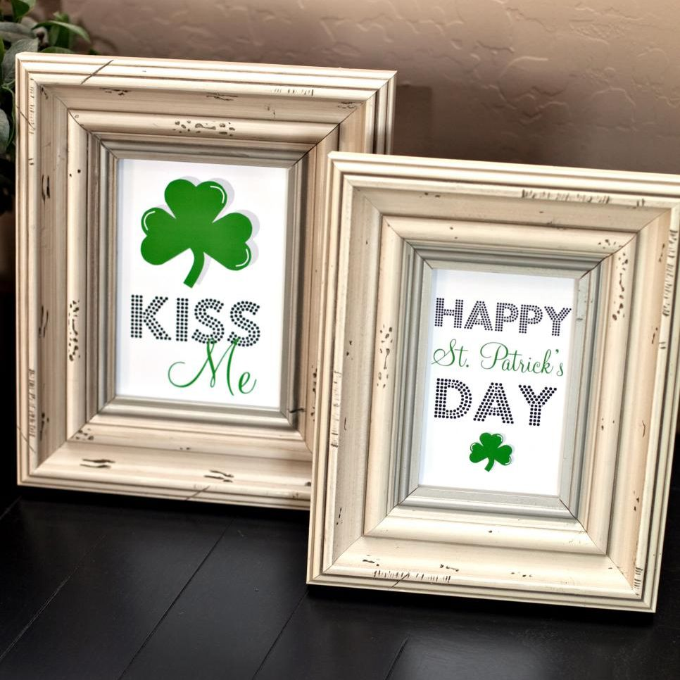 Two framed St. Patrick's Day free printables