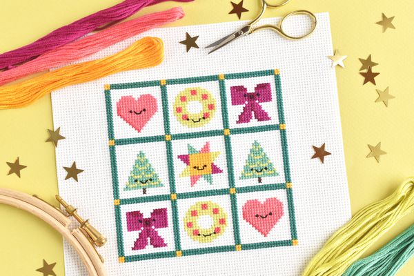Christmas Quilt-Inspired Sampler Cross Stitch