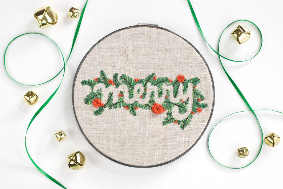 Embroidered Merry Hoop