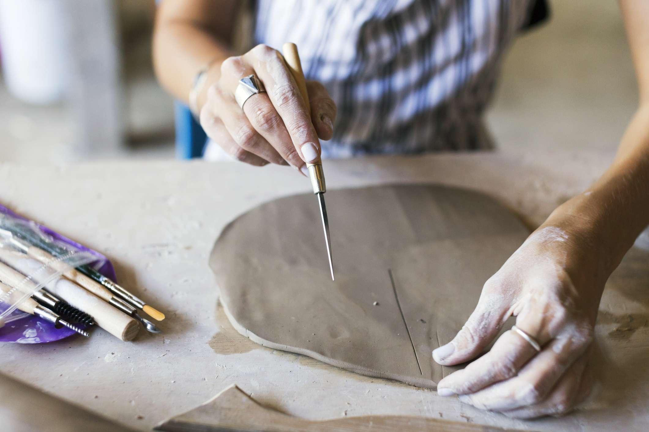 Slab of clay
