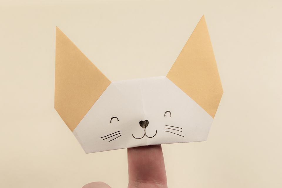 Origami Finger Puppet Tutorial
