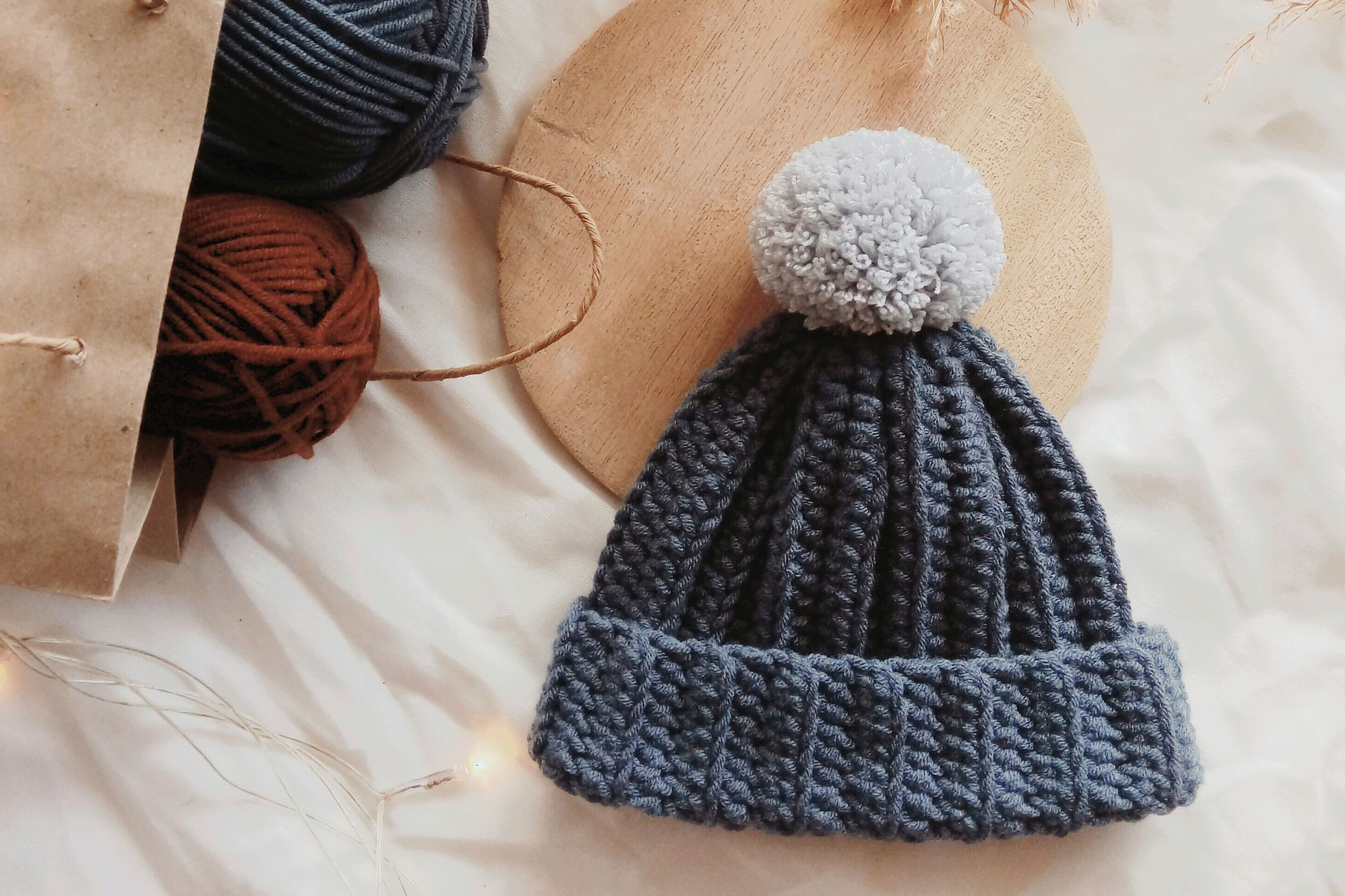 Floppy PomPom Hat Crochet Pattern Baby Hat Cap Crochet Pattern PDF Instant Download