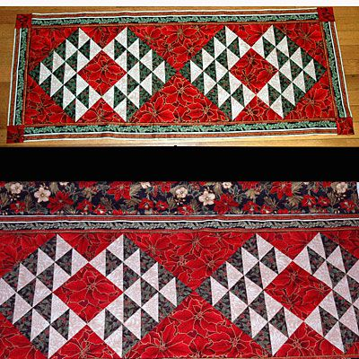 Christmas Table Runners To Make.How To Sew A Christmas Table Runner
