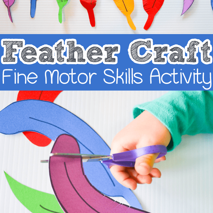 Feather kid's craft