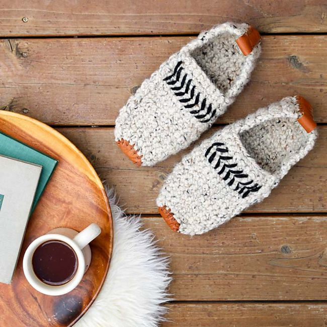 Men's Crochet Slippers Free Pattern