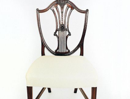George III style mahogany Hepplewhite chair