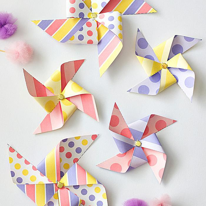 Pretty Paper Pinwheels From Yellow Bliss Road