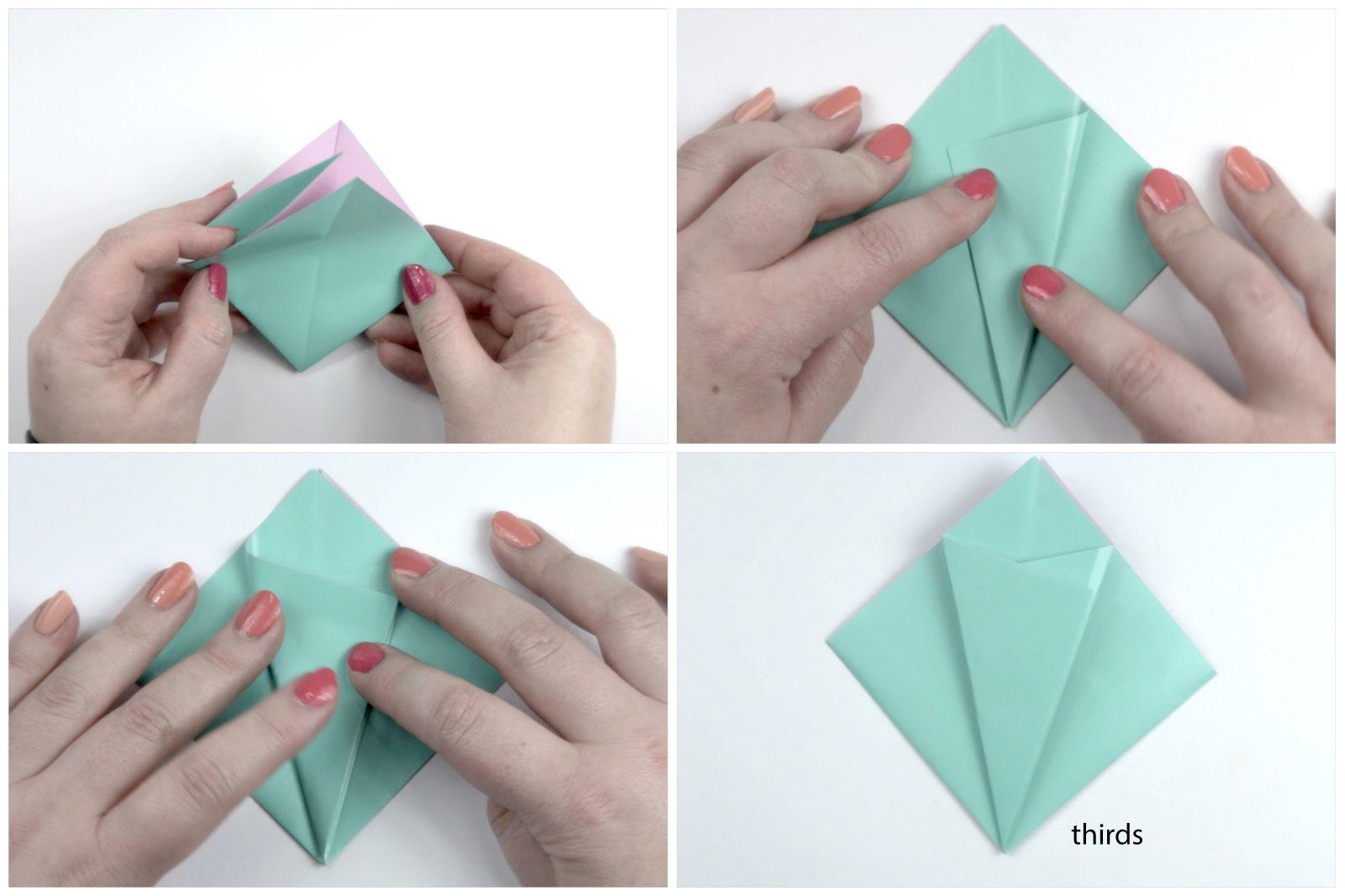 Origami Flower Tutorial 03